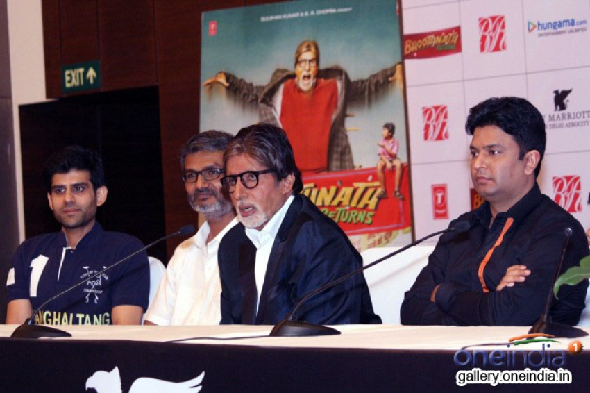 Amitabh Bachchan promote Bhoothnath Returns in New Delhi Photos