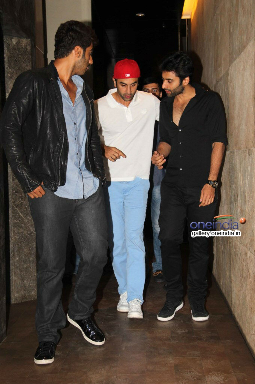 Arjun Kapoor and Ranbir Kapoor attends Youngistaan film screening Photos