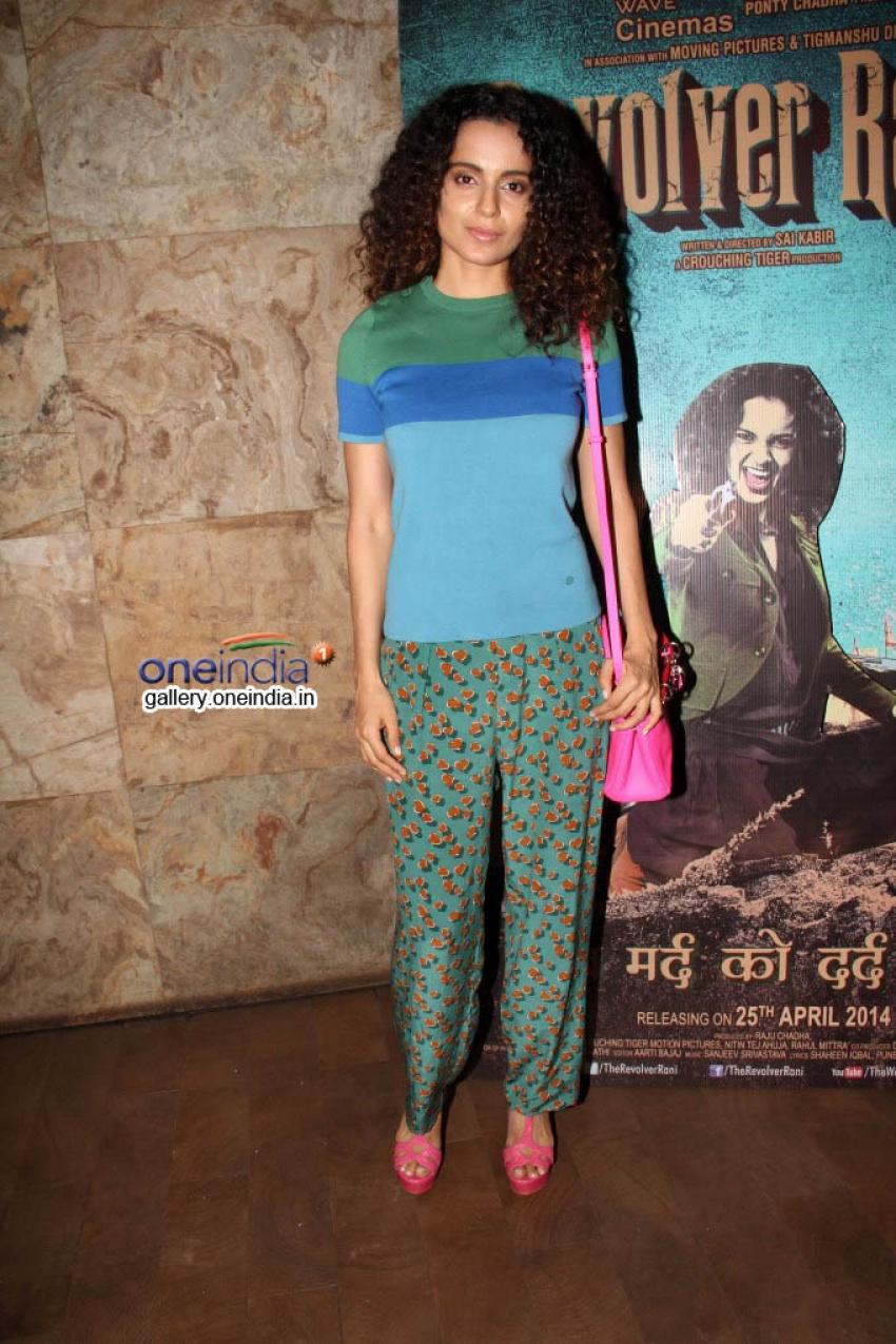 Kangna Ranaut and Anurag Kashyap at Revolver Rani film screening Photos