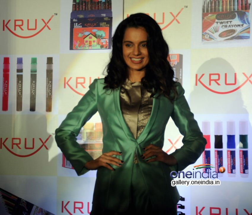 Kangna Ranaut at the launch of KRUX Photos