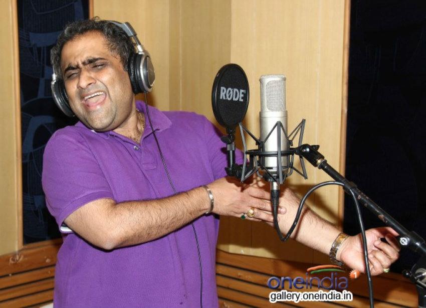 Kunal Ganjawala records song for the film Auto Romance In Mumbai Photos