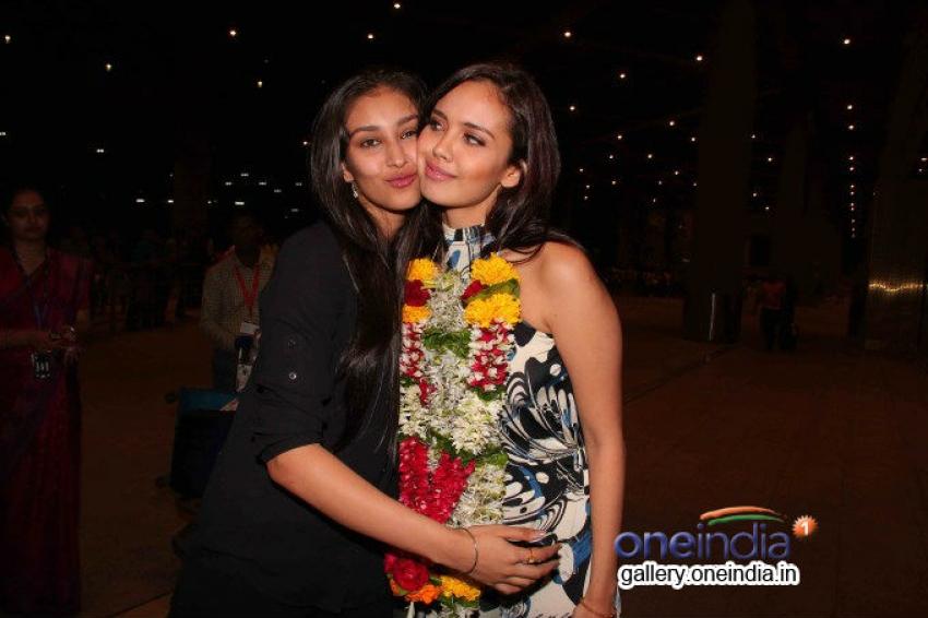 Megan Young Miss World 2013 arrives Mumbai Photos