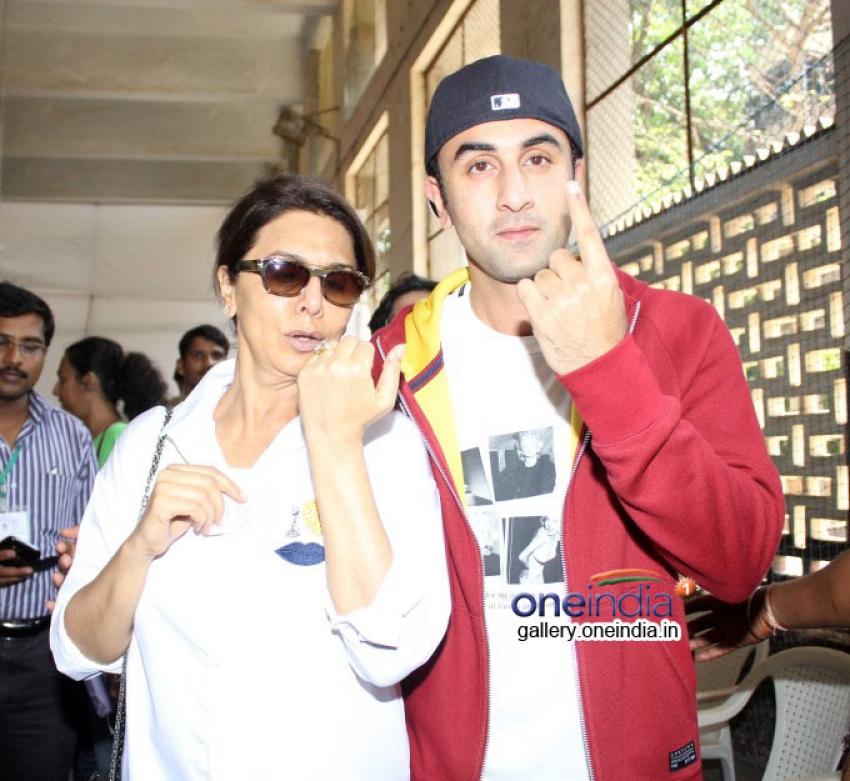 Bollywood Celebs cast their Votes Photos