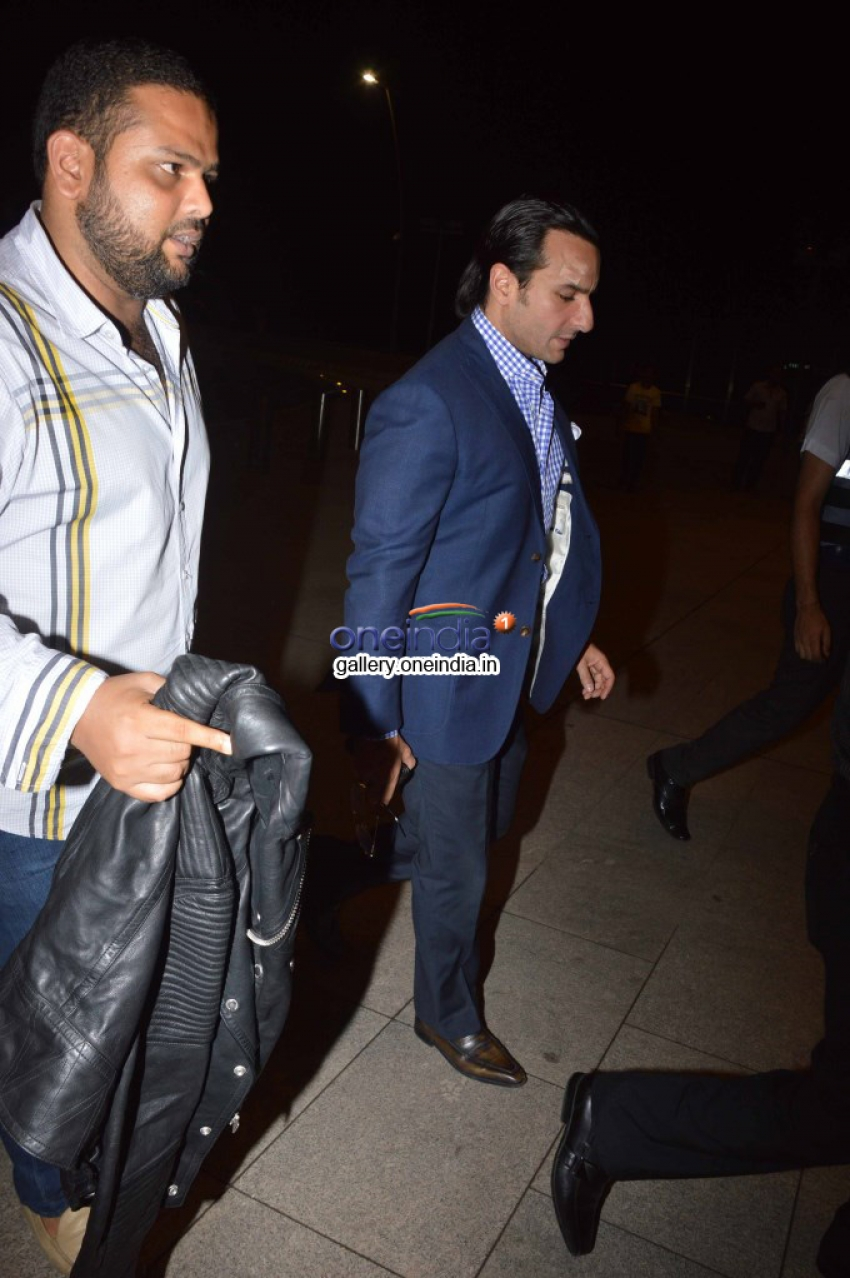 Saif Ali Khan, Sonakshi Sinha & others celebs leaves for IIFA awards 2014 Photos