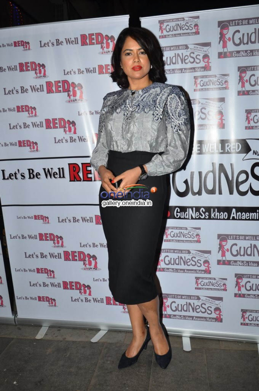 Sameera Reddy supports Anti- Anemia Drive Campaign Photos