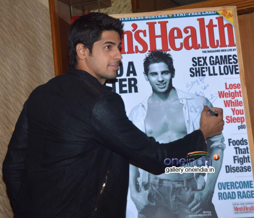 Sidharth Malhotra unveils Men's Health magazine's cover Photos