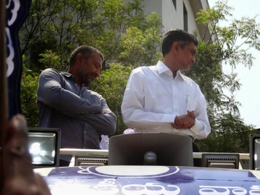SS Rajamouli at JP Nomination Rally Photos