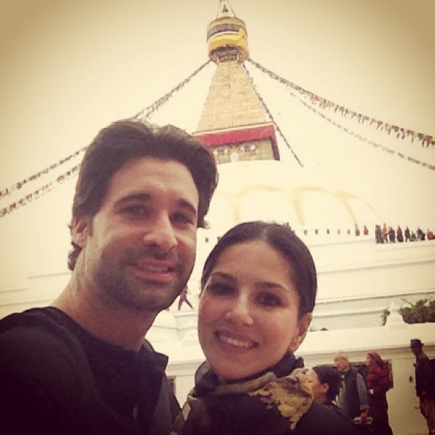 Sunny Leone and Daniel Weber trip to Nepal and Dubai Photos