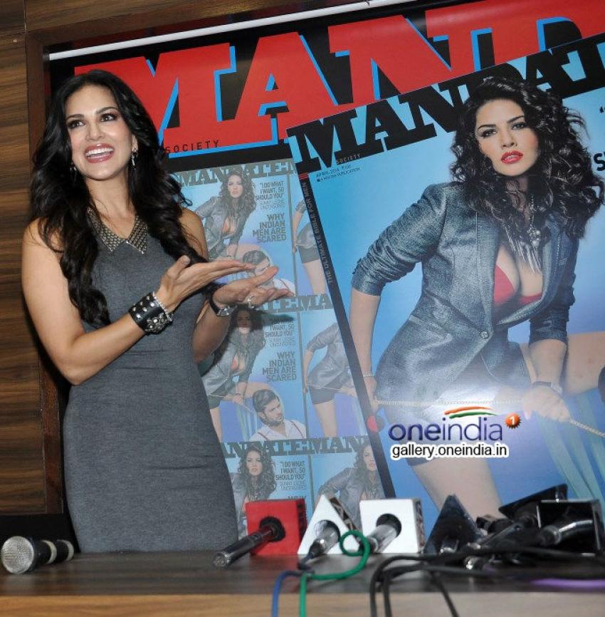Sunny Leone launches magazine Mandate April 2014 issue Photos