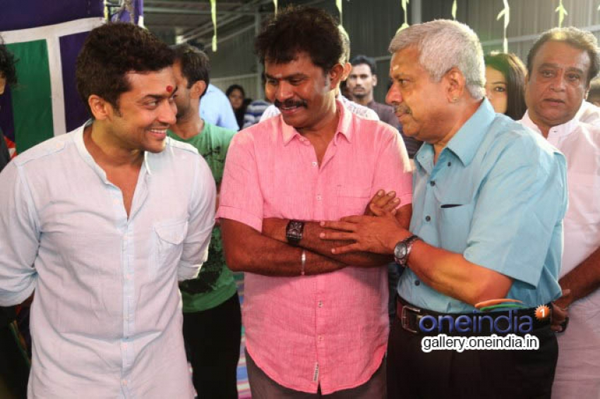 Suriya and Venkat Prabhu's film pooja Photos