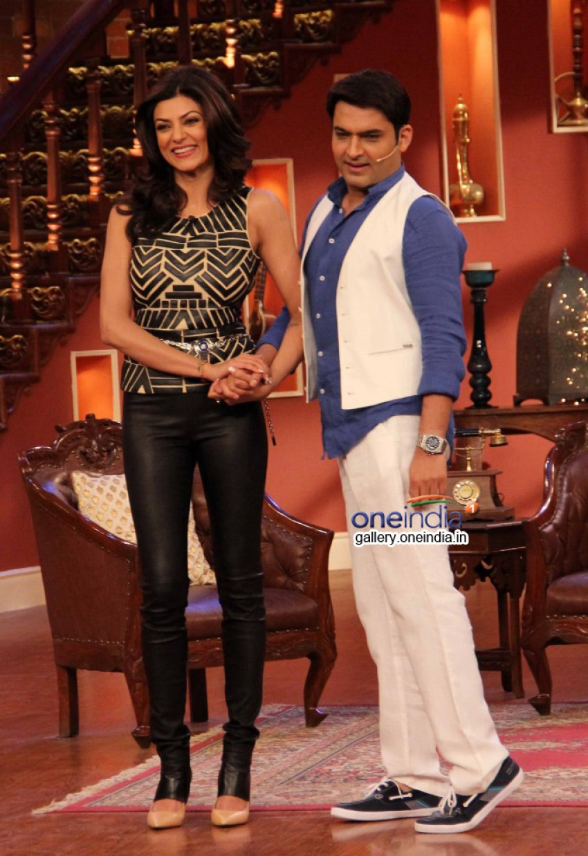 Sushmita Sen on the sets of Comedy Nights with Kapil Photos