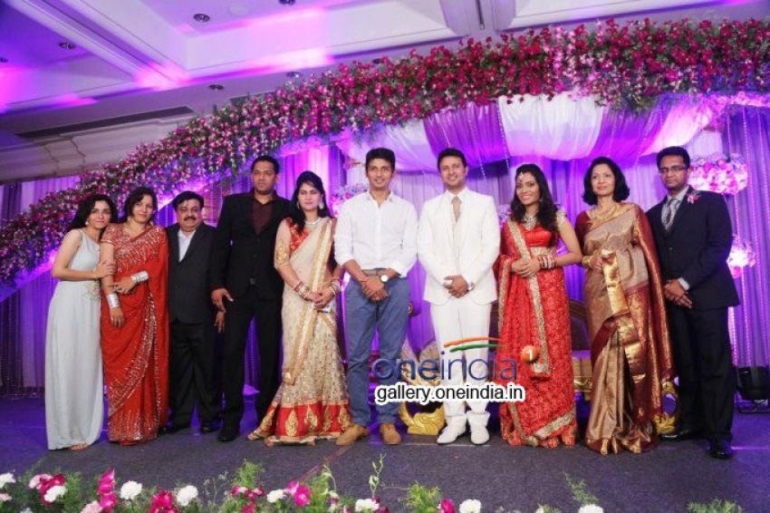 Telugu actor Raja and Amritha Marriage Photos