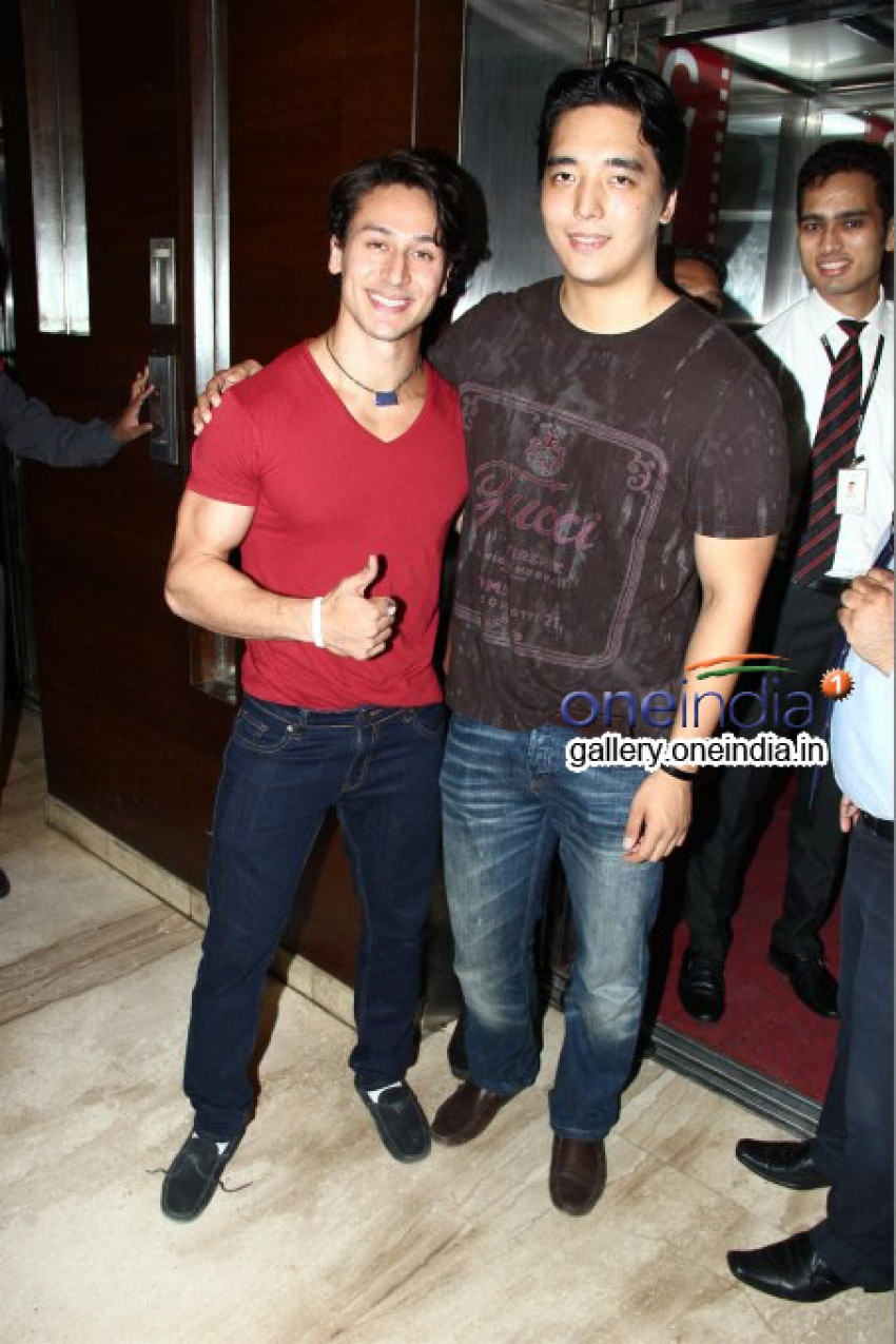 Tiger Shroff Promotes Heropanti at Cinemax Photos