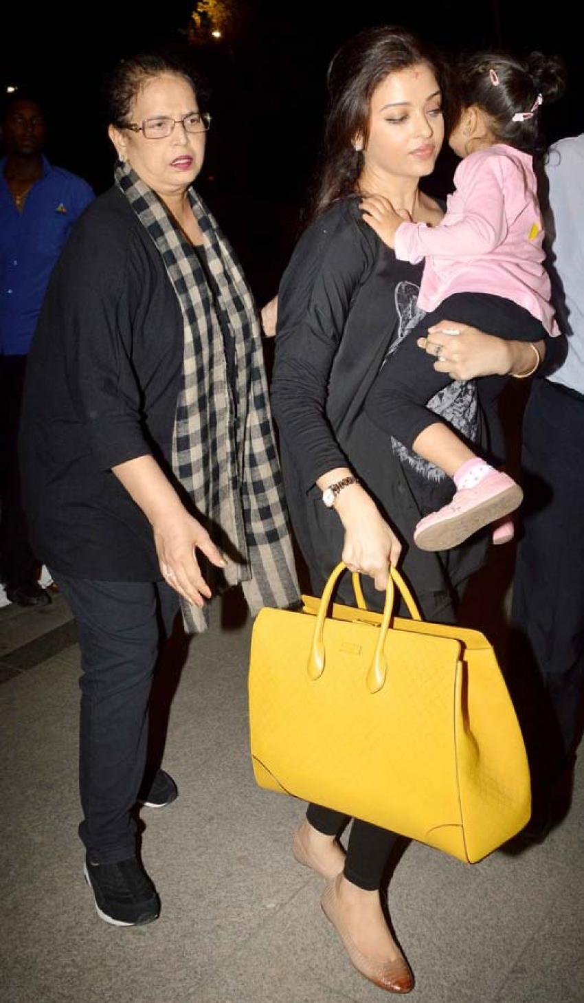 Ranvir Shorey, Aishwarya Rai & Aaradhya Leaves to Cannes Film Festival 2014 Photos