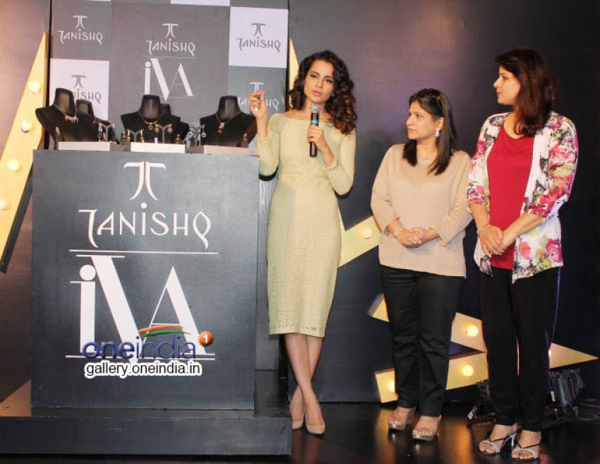Kangna Ranaut launches Tanishq IVA 2 collection Photos