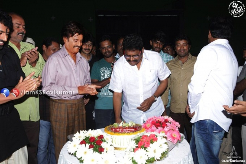 KS Ravikumar celebrates his birthday with Rajinikanth Photos