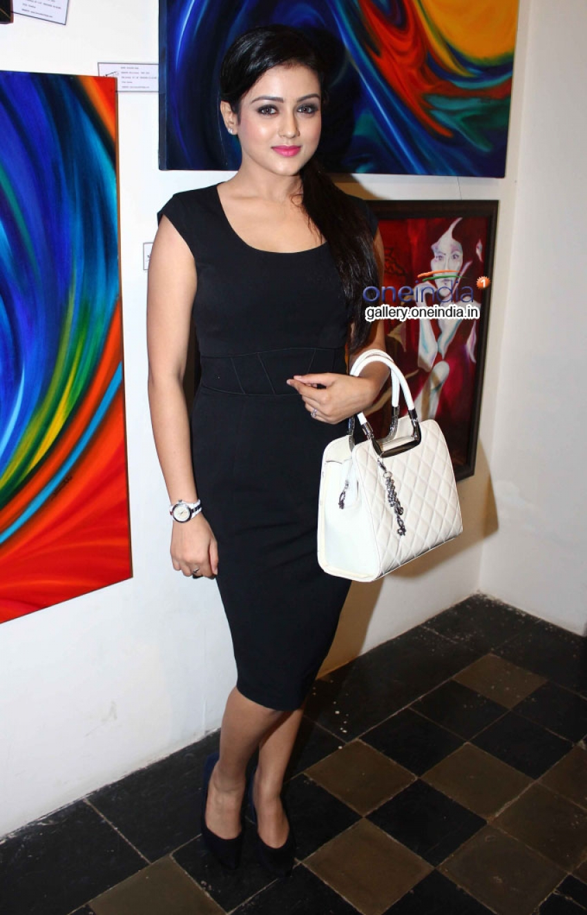 Mishti Chakraborty Inaugurates 'Hues 2' Art Exhibition Photos
