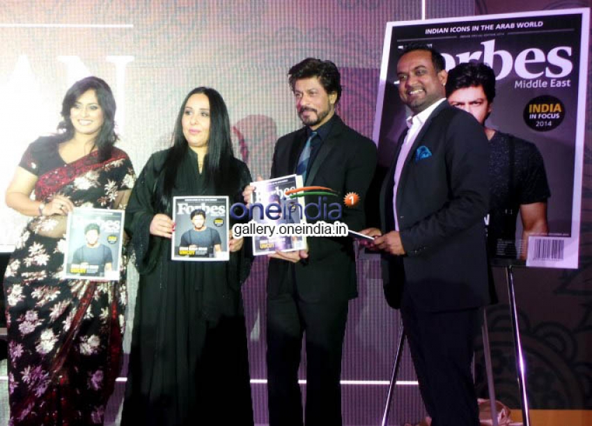 Mr Shahrukh Khan Featured On Forbes Middle East Cover Photos