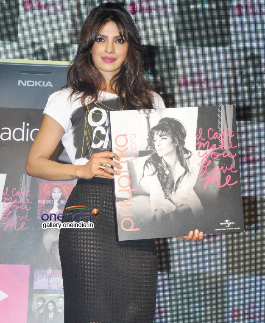 Priyanka Chopra launch her album I Can't Make You Love Me Photos