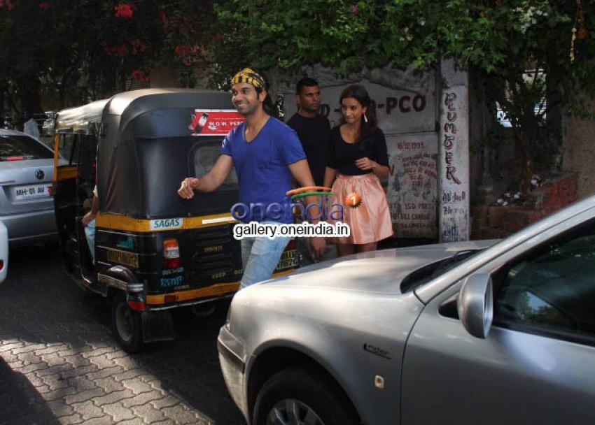 Rajkummar Rao and Patralekha Snapped at Bandra Photos
