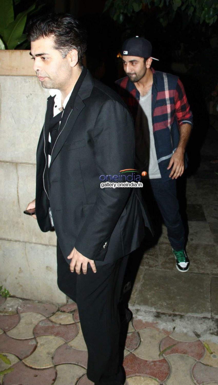 Ranbir Kapoor, Ayan Mukherjee, Karan Johar and Anurag Basu snapped at Siddharth Roy Kapoor's House Photos