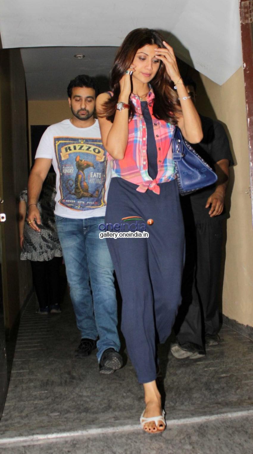 Shilpa Shetty, Raj Kundra and Tiger Shroff snapped at PVR Juhu Photos