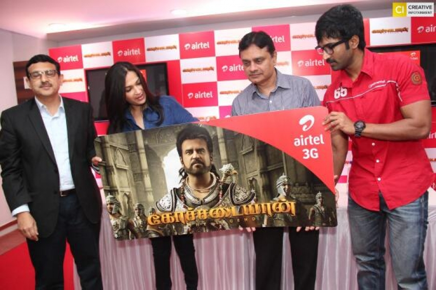 Soundarya R Ashwin at Kochadaiiyaan film press meet Photos
