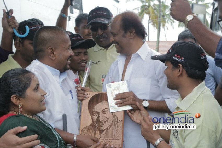 Super Star Rajinikanth meets Blind and visually challenged People Photos