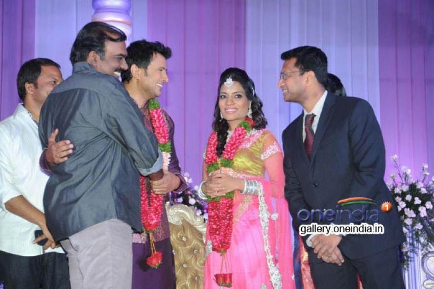 Telugu Actor Raja Wedding Reception Stills Photos