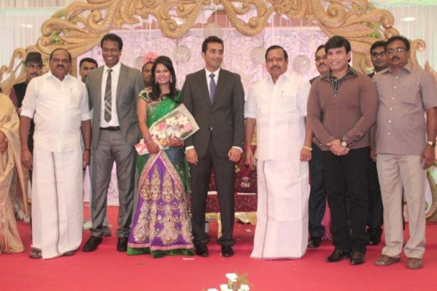 Actor Arun Pandian daughter Wedding Reception Photos