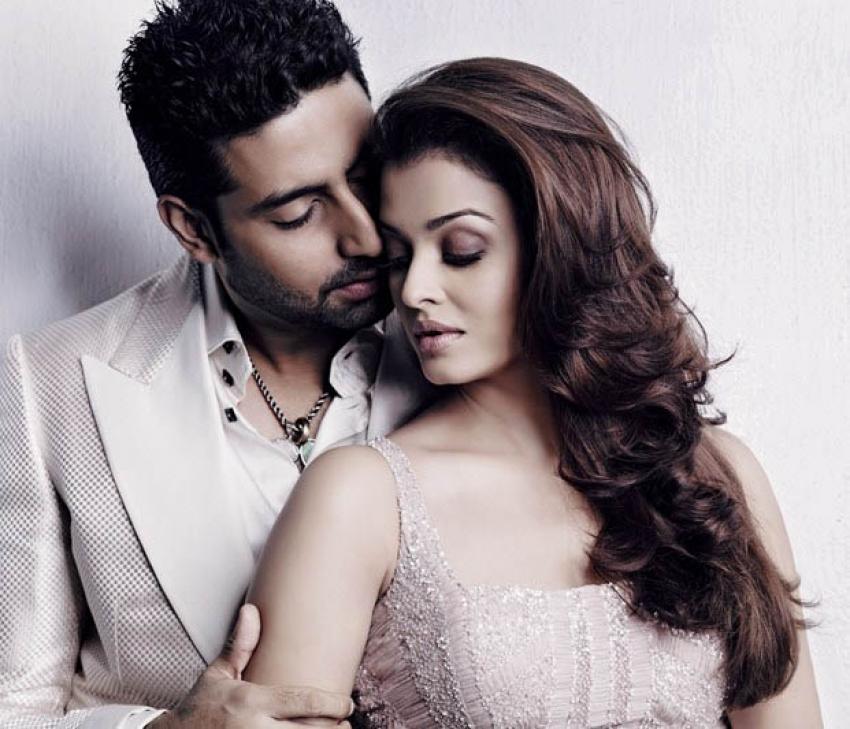 Aishwarya Rai & Abhishek Bachchan Romancing Photoshoot Photos