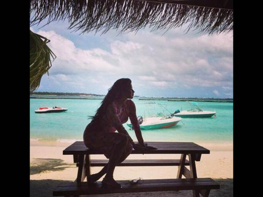 Amala Paul and AL Vijay Honeymoon in Maldives Photos