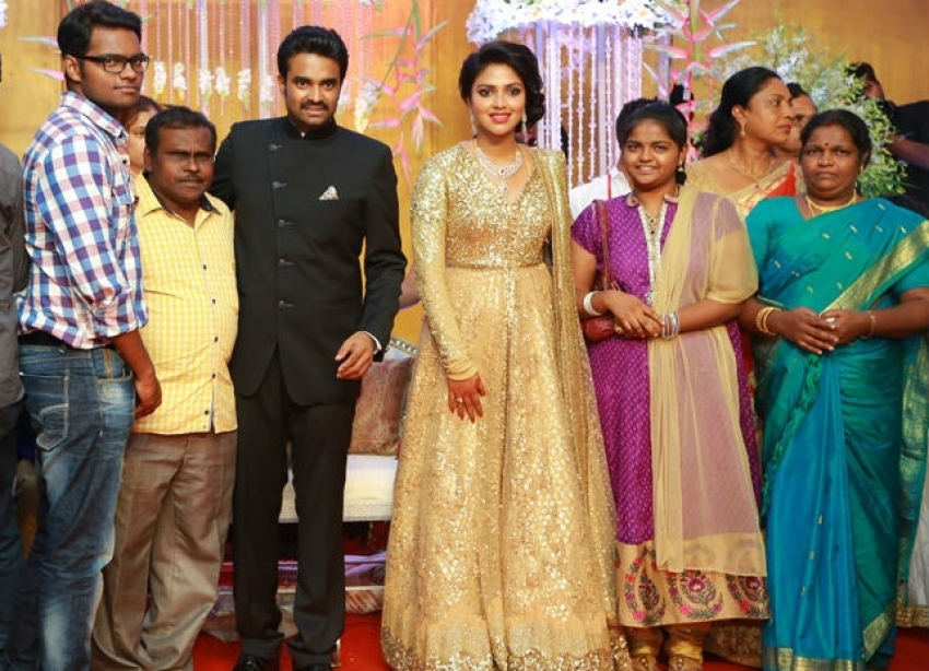 Amala Paul and AL Vijay Marriage Reception Photos