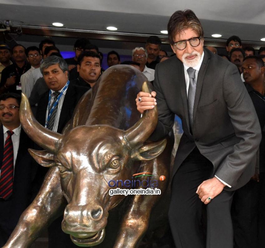 Amitabh Bachchan promotes serial Yudh at BSE Photos