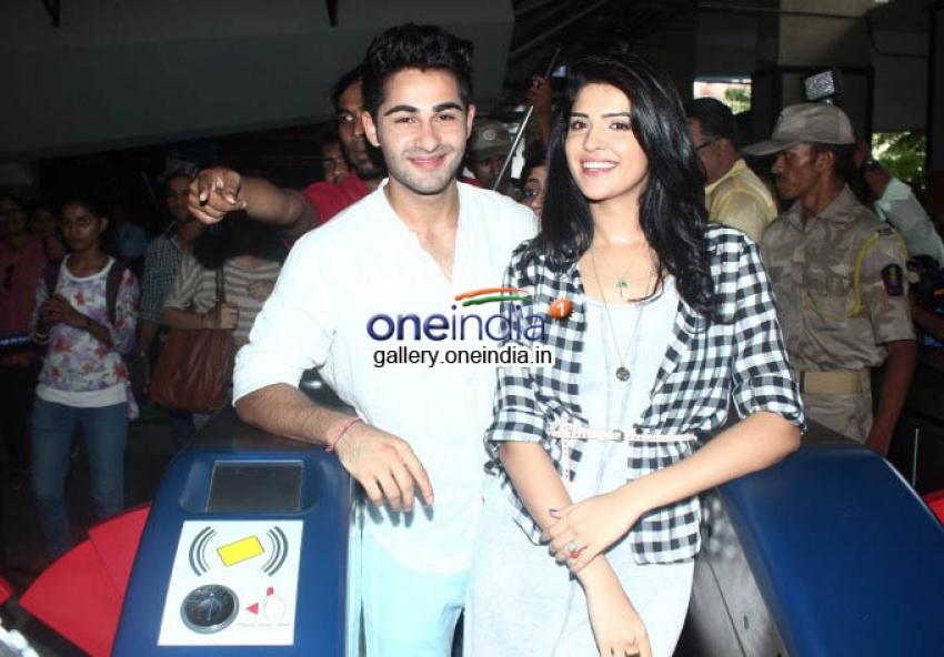 Armaan and Deeksha ride the Mumbai Metro Photos