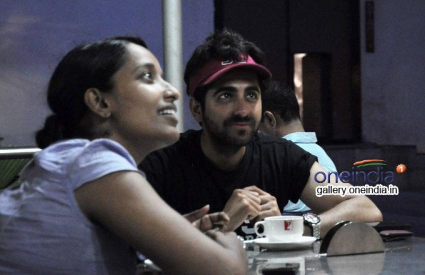 Ayushman Khurana Snapped at Yash Raj Studios Canteen Photos