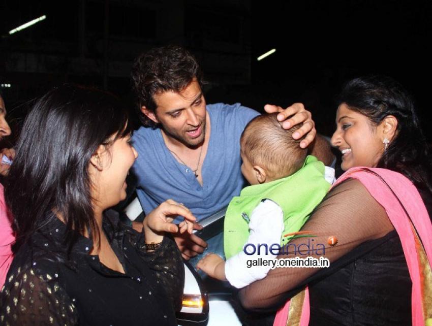 Hrithik Roshan with Family Snapped at Nido Bandra Photos