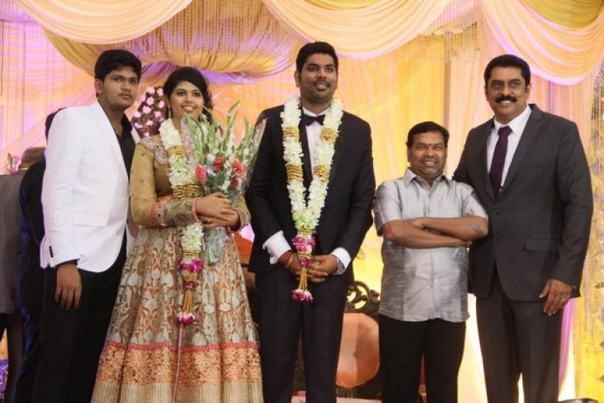 Ajay Ratnam Son Wedding Reception Photos