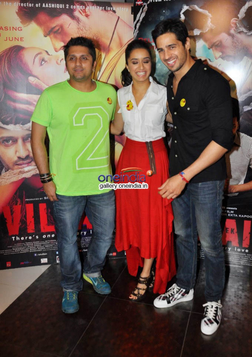 Shraddha Kapoor and Sidharth Malhotra Media Interaction For Ek Villain Photos