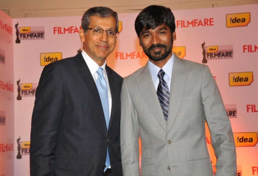 Dhanush at 61st Idea Filmfare Awards 2013 Press Conference Photos