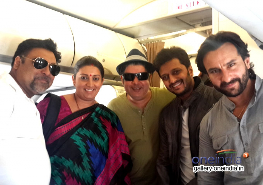 Humshakals Star-Cast with Minister of HRD Smriti Irani Photos