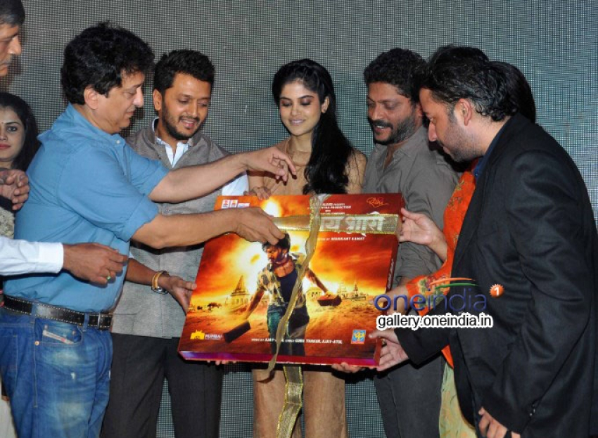 Ritesh and Genelia Deshmukh at Lai Bhari Music Launch Photos