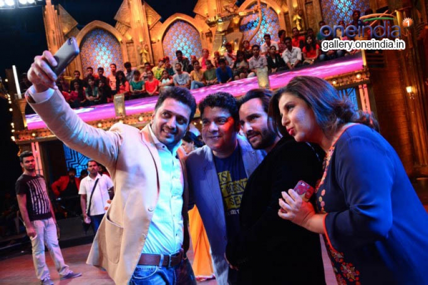 Humshakals cast and Raveena Tandon on EntertainmentKe Liye Kuch Bhi Karega Photos