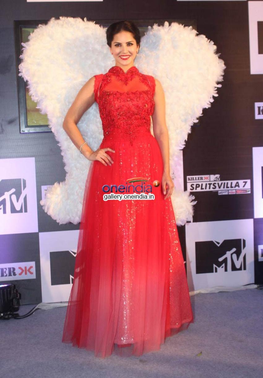Sunny Leone at press conference of MTV Splits Villa Photos