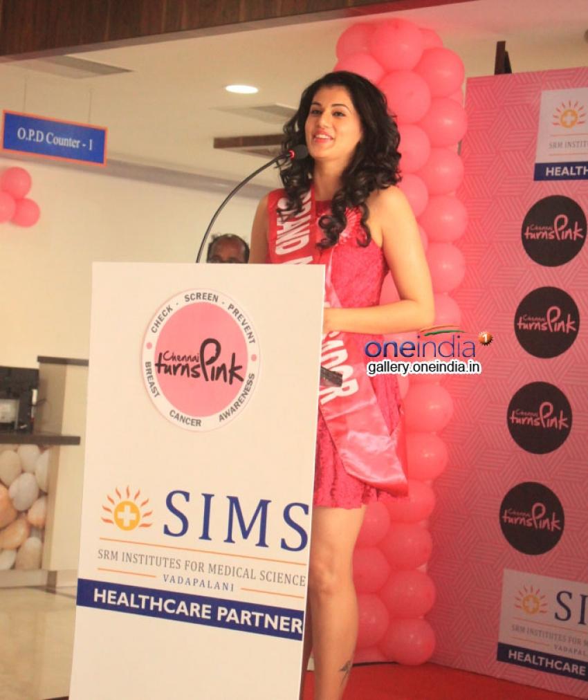 Taapsee Pannu - Brand Ambassador of Chennai Turns Pink Photos