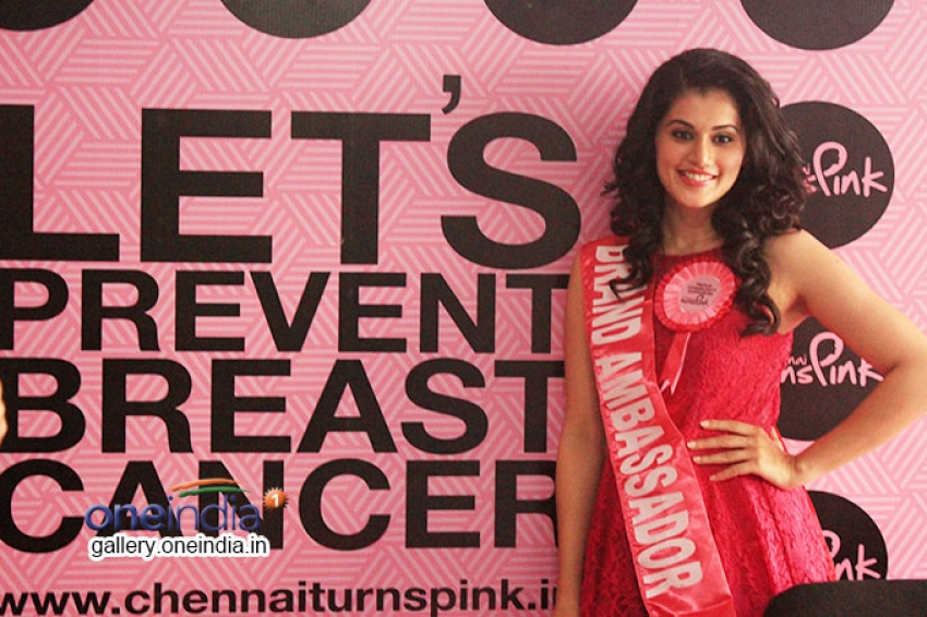 Tapasee Pannu - Brand Ambassador of Chennai Turns Pink Photos