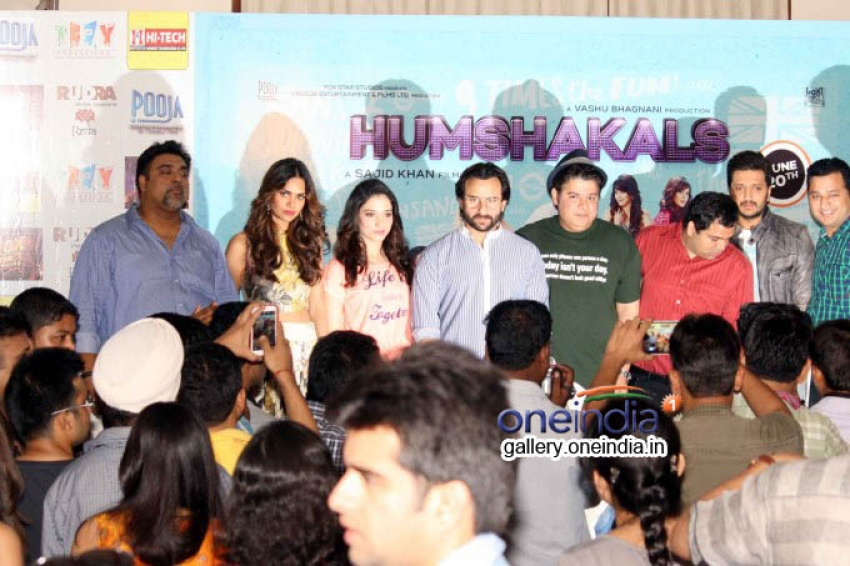 The cast of film Humshakals Press Meet at Delhi Photos