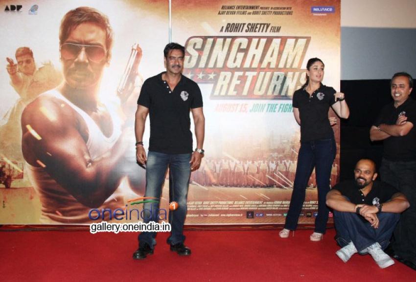 Singham Returns - Theatrical Trailer Launch Photos