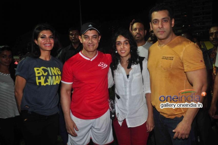 Aamir Khan, Abhishek, Hrithik at Ira Khan's Charity Football Match Photos