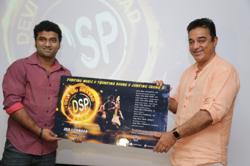 Kamal Hassan Reveals the poster of DSP USA Canada Tour Photos